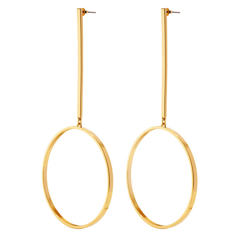 Jenny Bird Edie Hoop Earrings Large in High Polish Gold