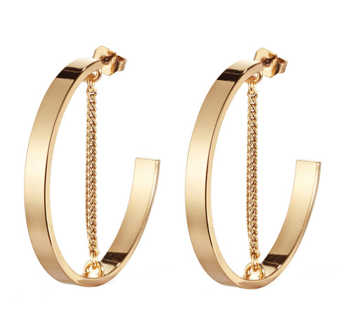 Jenny Bird Mia Hoops in High Polish Gold