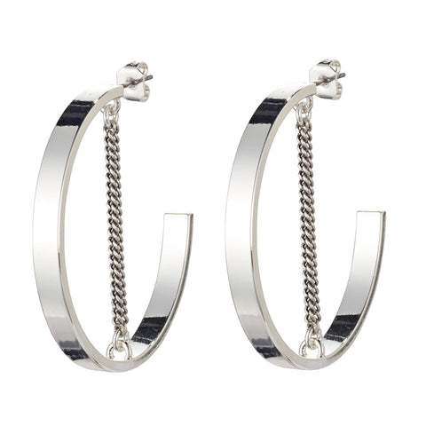 Jenny Bird Mia Hoops in High Polish Silver