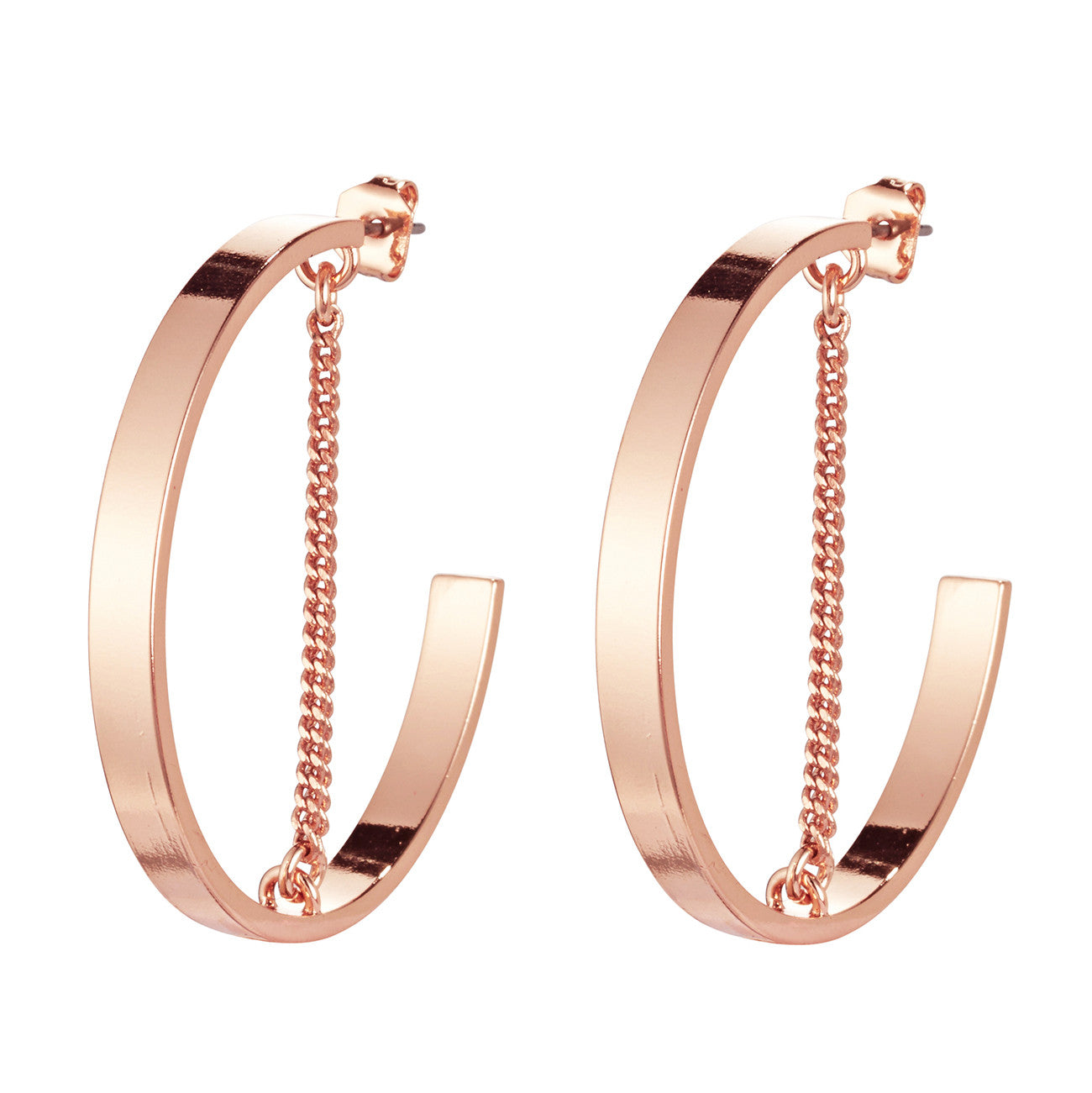 Jenny Bird Mia Hoops in Rose Gold