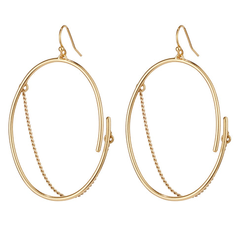 Small Rill Hoops By Jenny Bird in Gold