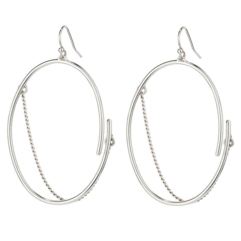 Small Rill Hoops By Jenny Bird in Silver