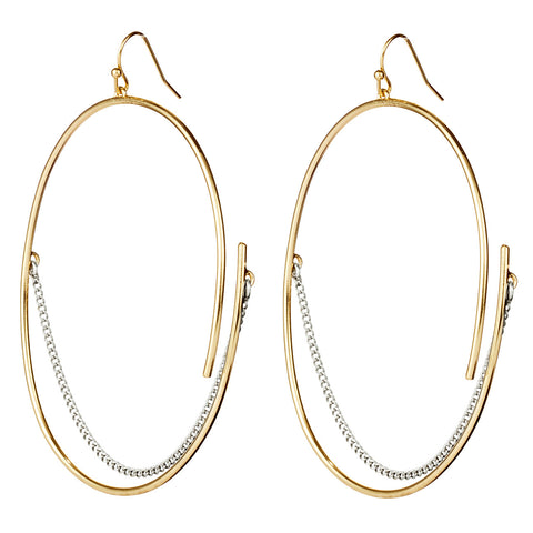 Large Rill Hoops By Jenny Bird in Two Tone