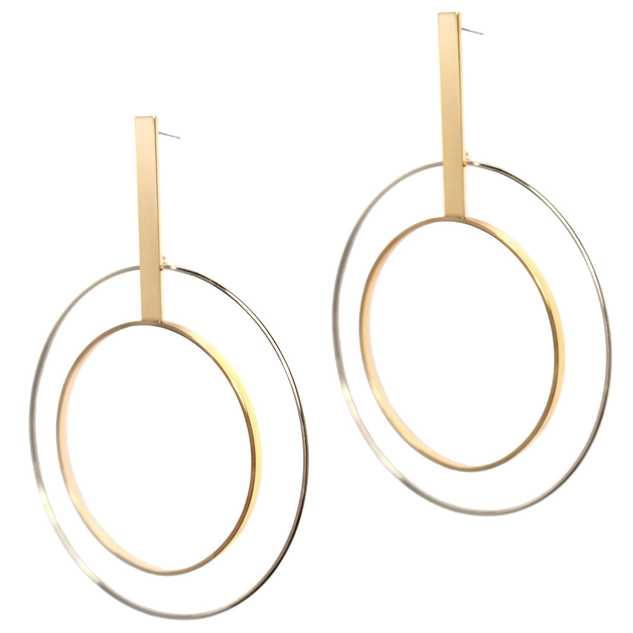 Bo Hoops by Jenny Bird in Two-Tone