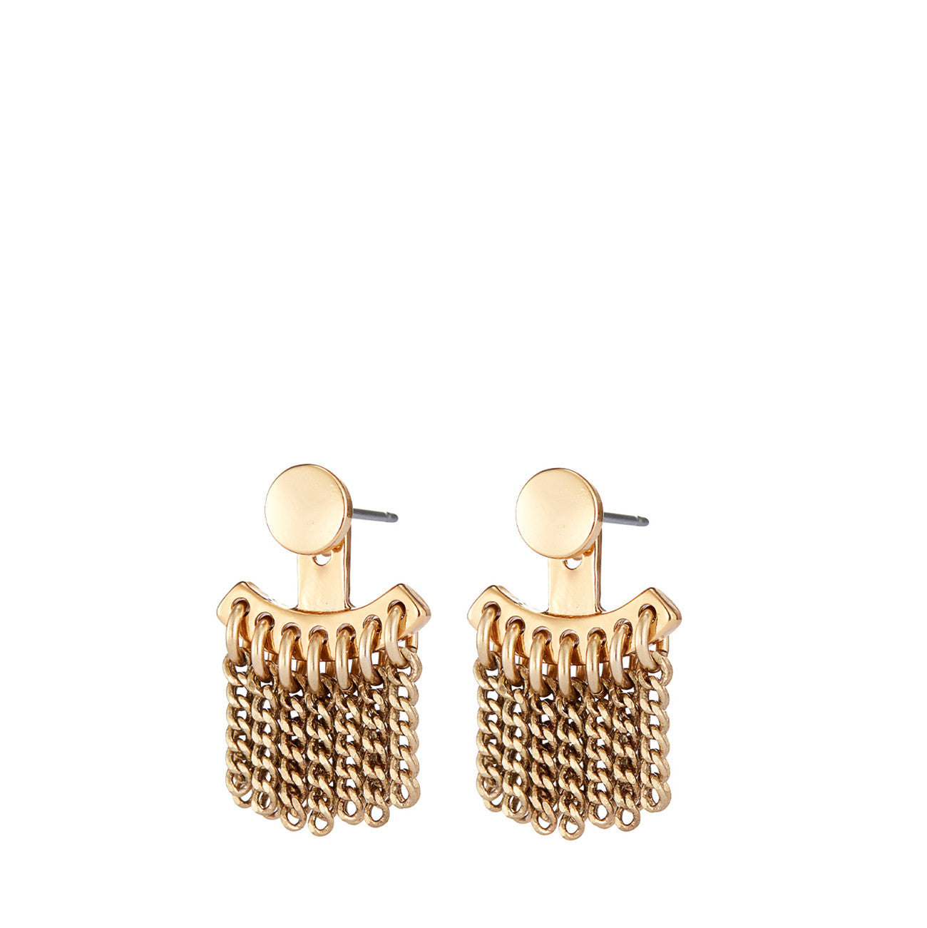 Collins Ave. Ear Jackets by Jenny Bird in High Polish Gold