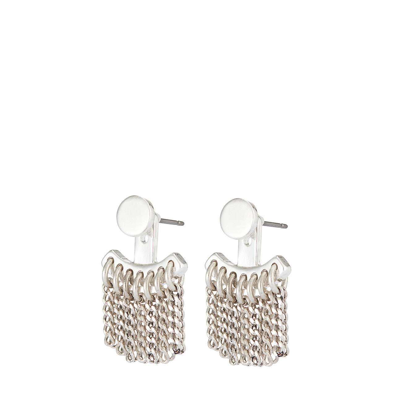 Collins Ave. Ear Jackets by Jenny Bird in High Polish Silver
