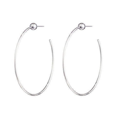 Small Icon Hoops by Jenny Bird in High Polish Silver
