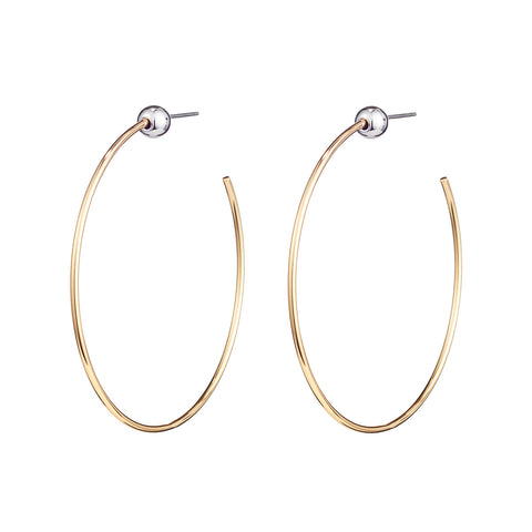 Small Icon Hoops by Jenny Bird in Two Tone