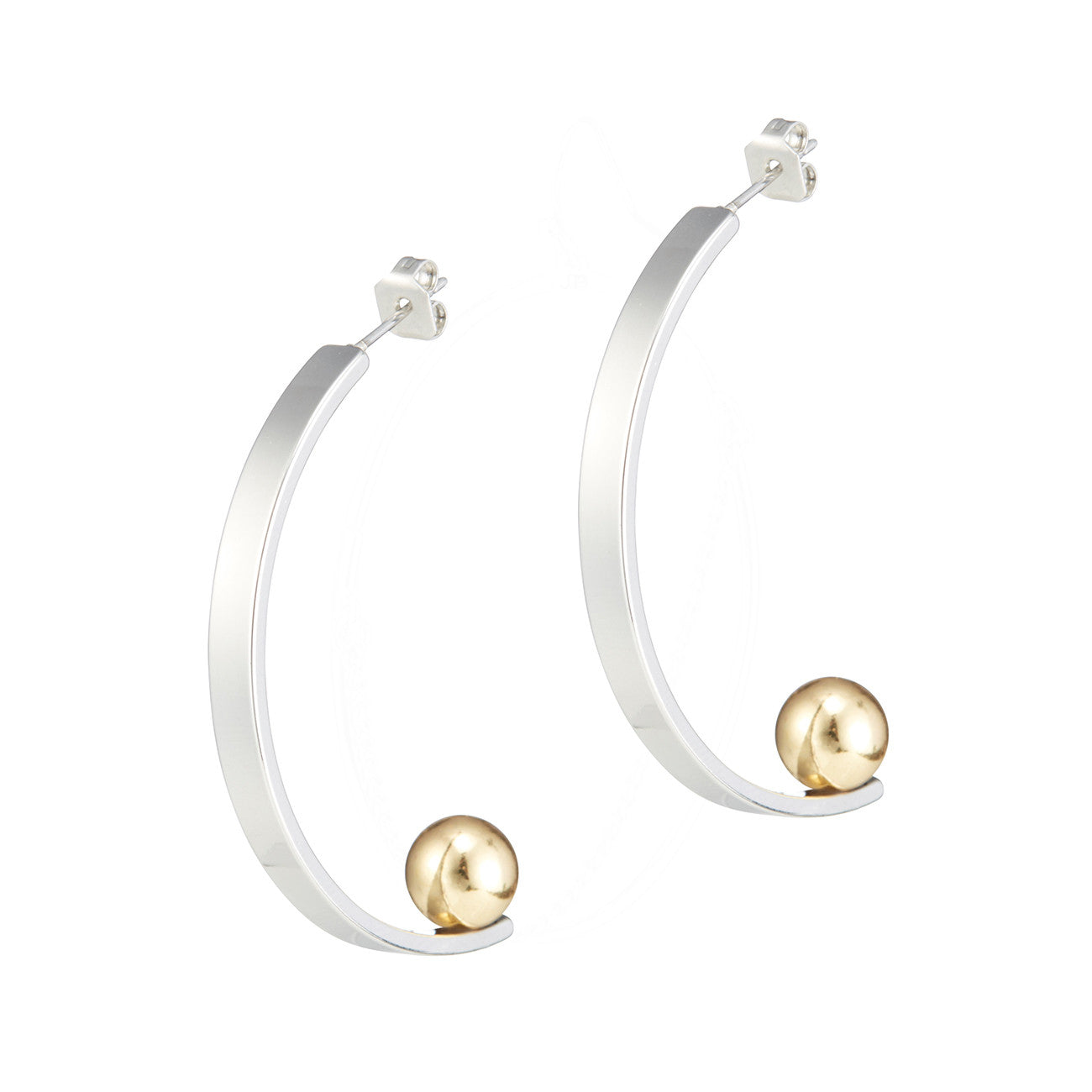 Vela Earrings by Jenny Bird in Rhodium