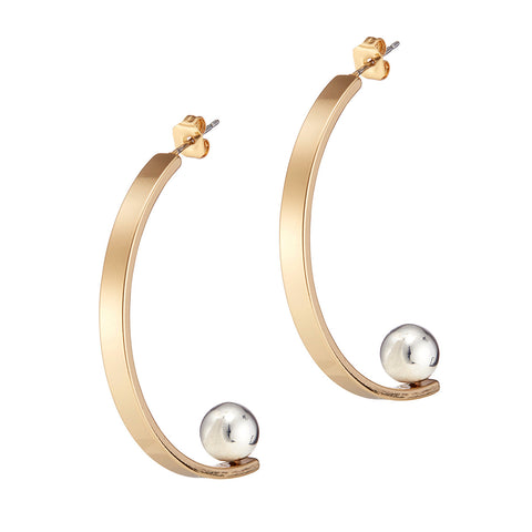 Vela Earrings by Jenny Bird in Two Tone