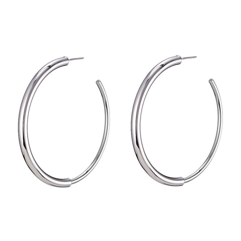 The small Lola Hoops by Jenny Bird in Rhodium