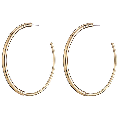 The large Lola Hoops by Jenny Bird in High Polish Gold