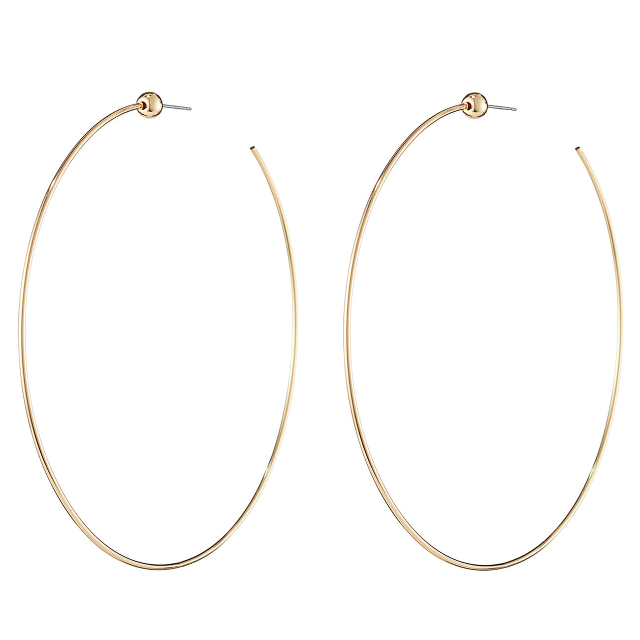 Medium Icon Hoops by Jenny Bird in High Polish Gold