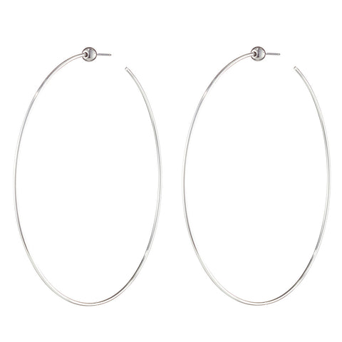 Medium Icon Hoops by Jenny Bird in High Polish Silver