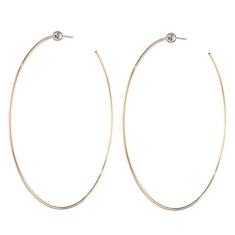 Medium Icon Hoops by Jenny Bird in Two Tone