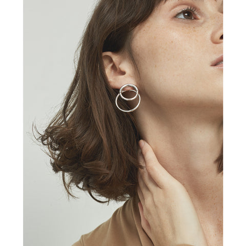 Ossie Ear Jackets by Jenny Bird in High Polish Silver
