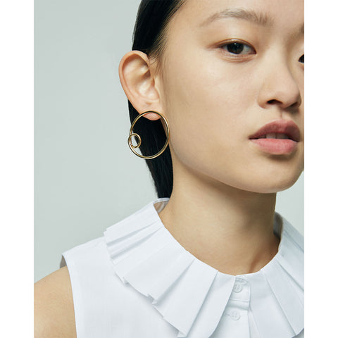 The Otis Hoops by Jenny Bird in High Polish Gold