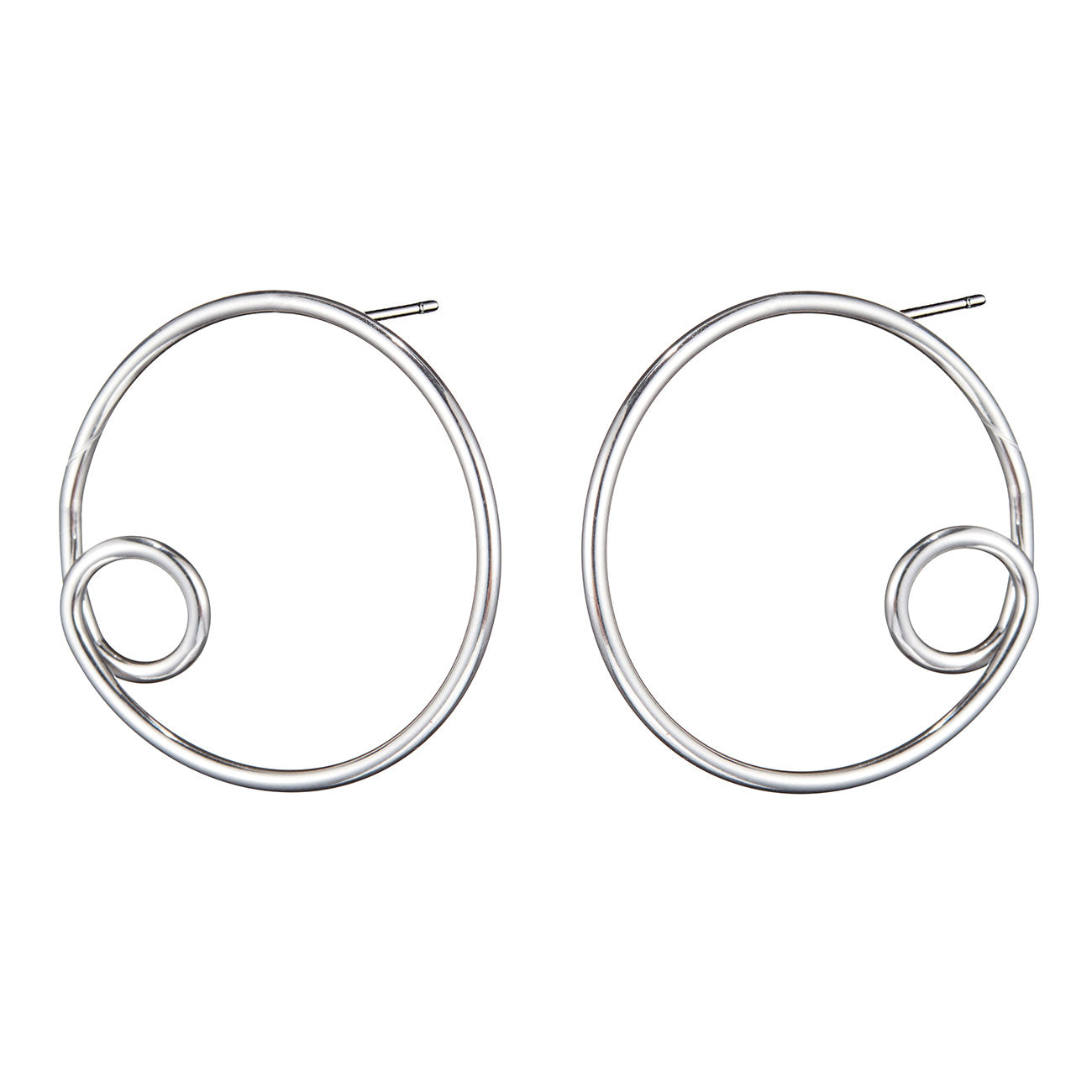 The Otis Hoops by Jenny Bird in Rhodium