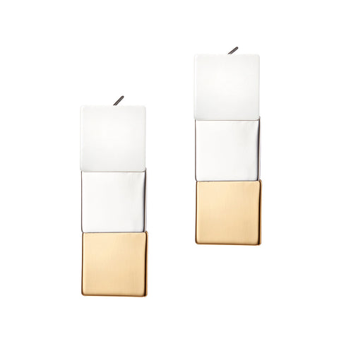 Short Beach House Earrings by Jenny Bird in Two-Tone