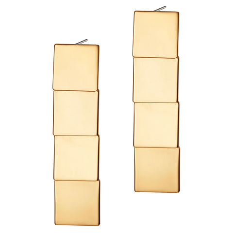 Beach House Earrings - Long by Jenny Bird in Gold