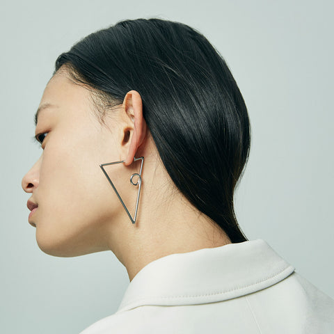 The Verse Earrings by Jenny Bird in Rhodium
