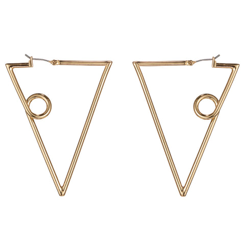 The Verse Earrings by Jenny Bird in High Polish Gold