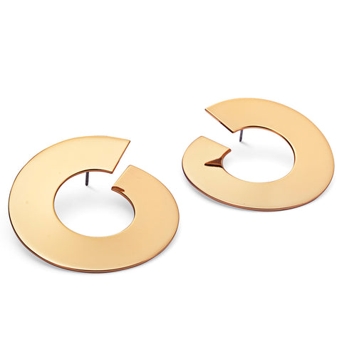 The Carmine Hoops - Large by Jenny Bird in Gold