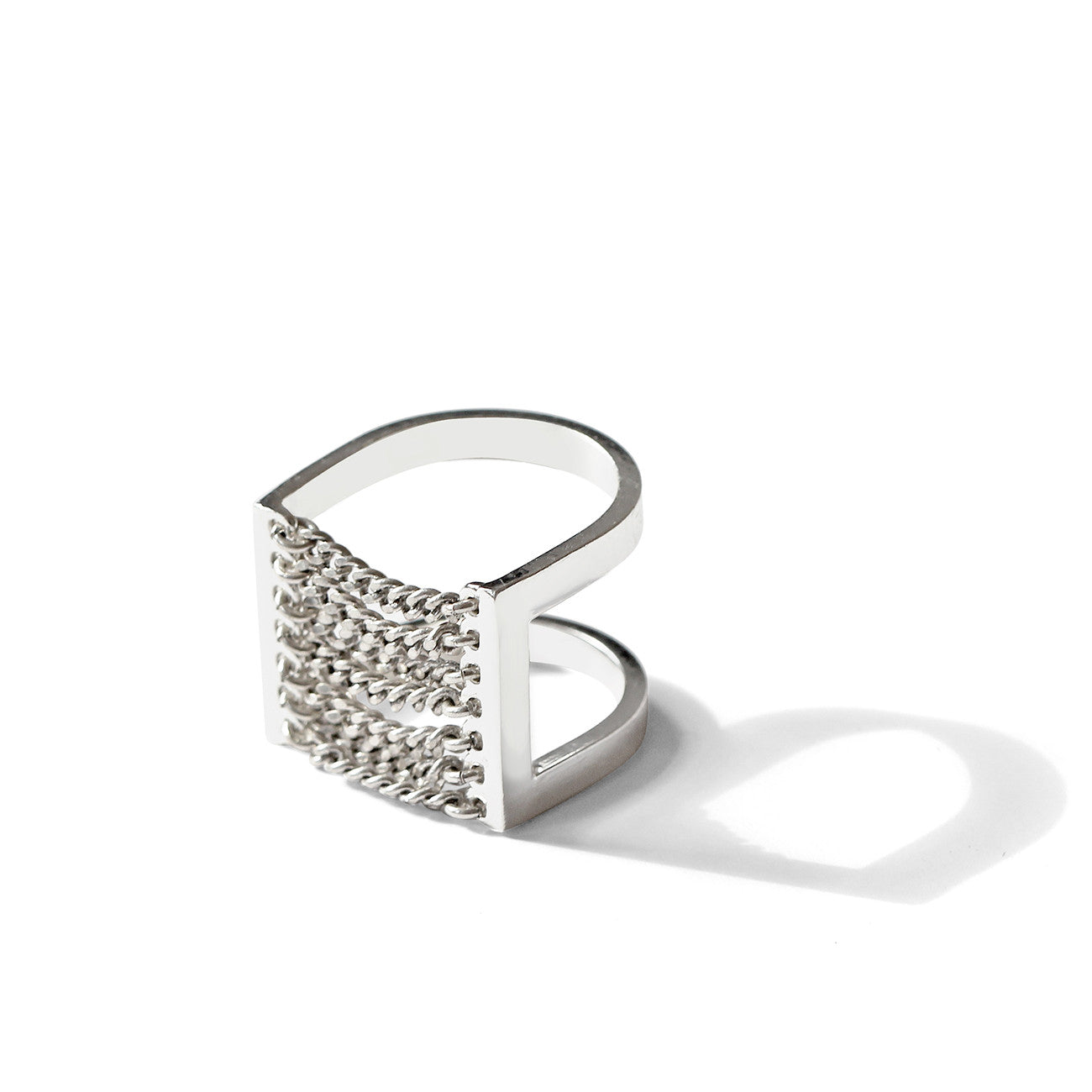 Jenny Bird Canopy Ring in High Polish Silver
