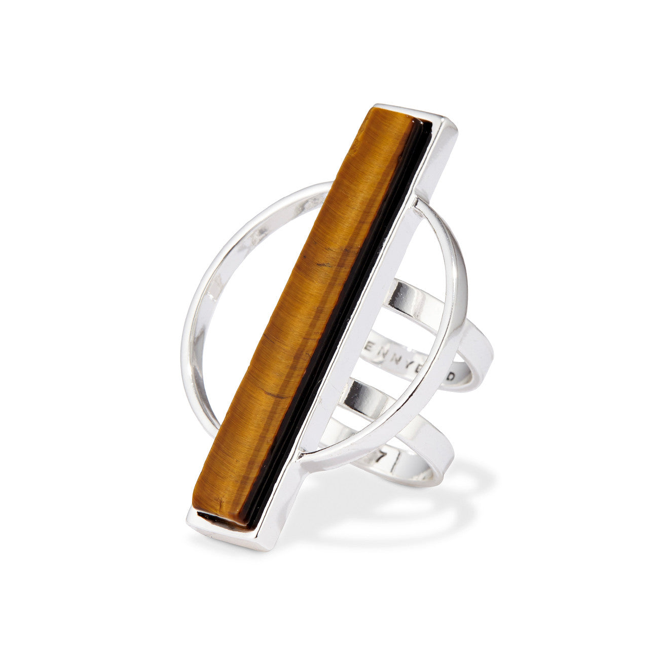 Jenny Bird Pollux Ring in Silver with Tiger's Eye Stone