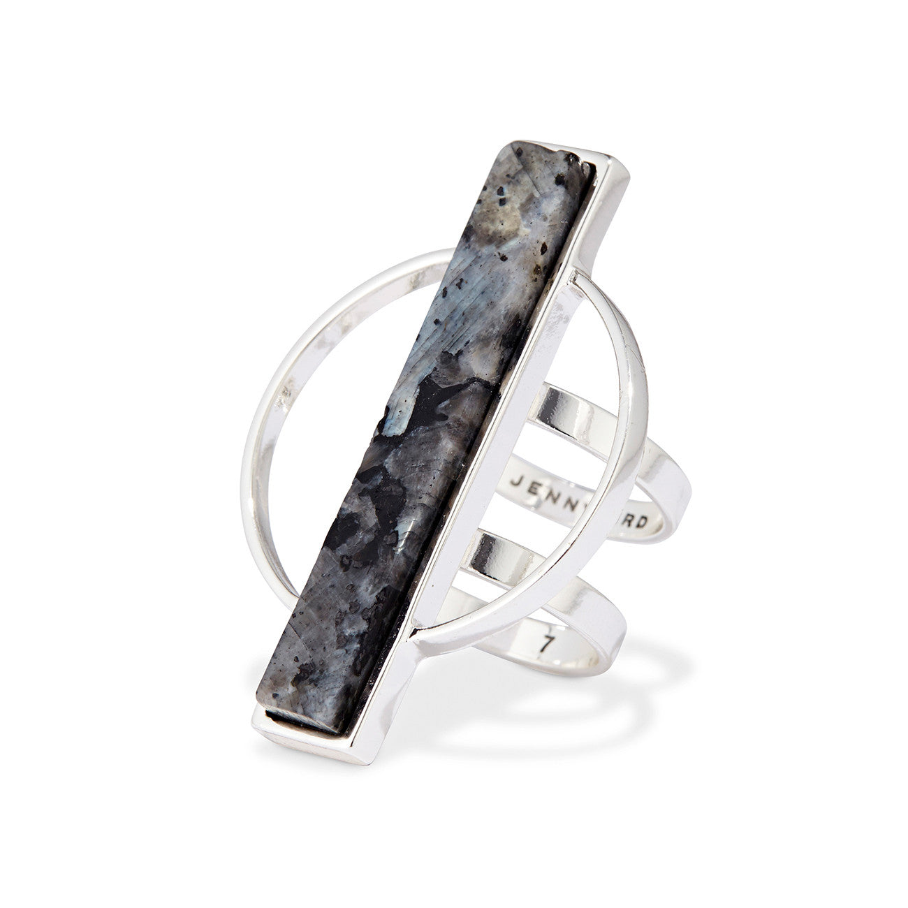 Jenny Bird Pollux Ring in Silver with Labradorite Stone