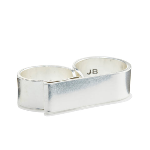 The Serra Ring by Jenny Bird in antique Silver