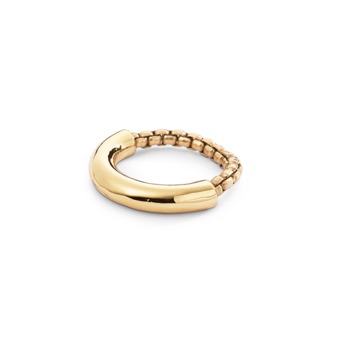 Gold thick Amelia Ring by Jenny Bird