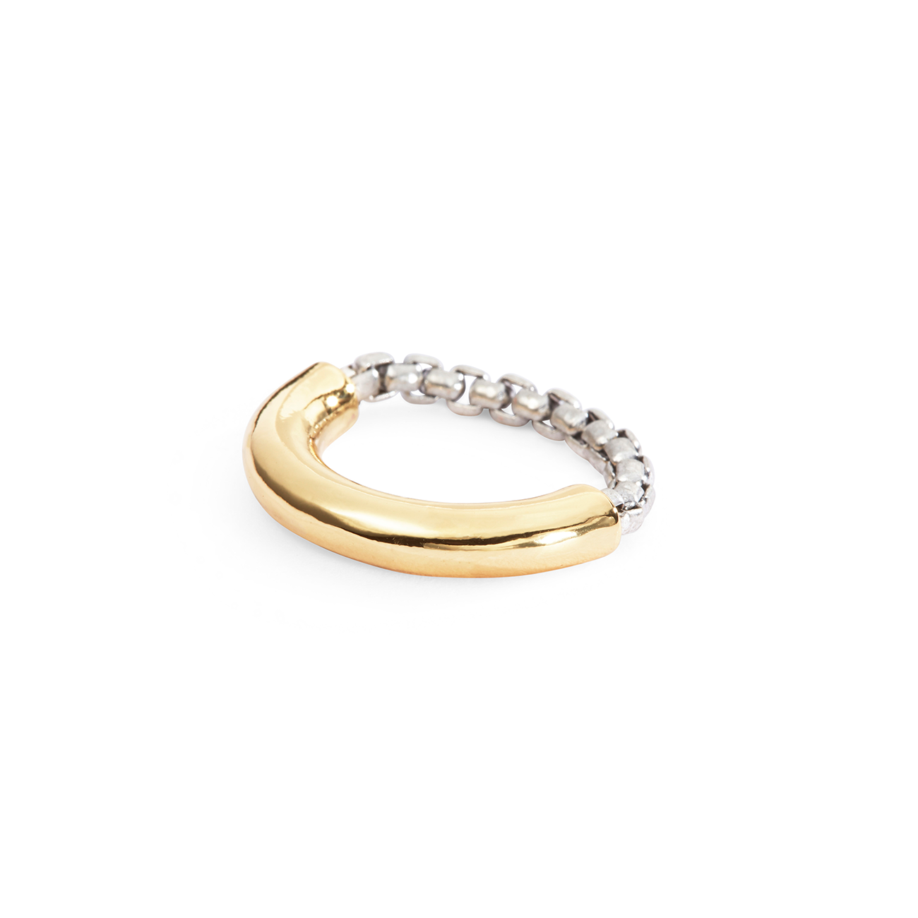 Gold and silver thick Amelia Ring by Jenny Bird