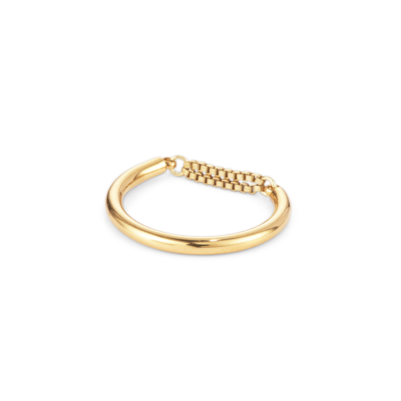 Gold dainty chain Sadie Ring by Jenny Bird