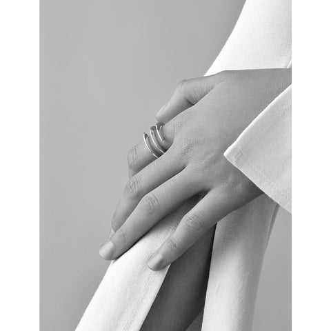 Revolve Ring by Jenny Bird in Gold