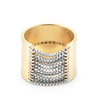 Gold and Silver tall Chloe chain Ring by Jenny Bird