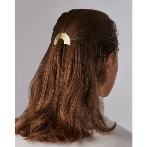 Gold semi-circle Anine hair Barrette accessory by JENNY BIRD
