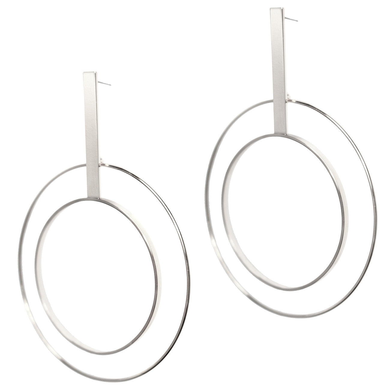 Bo Hoops by Jenny Bird in High Polish Silver