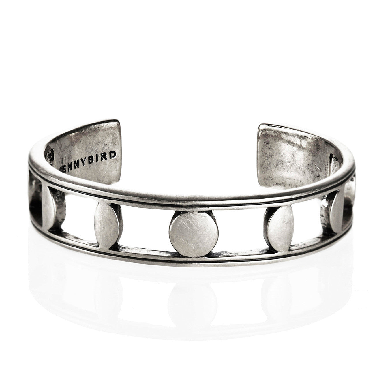 Moonsong Cuff in Silver by Jenny Bird