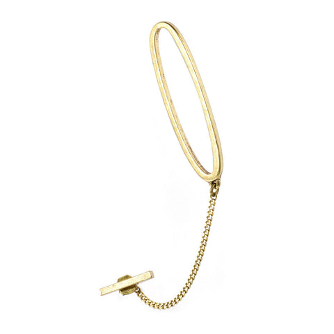 Slant Ear Cuff  in Gold OX by Jenny Bird