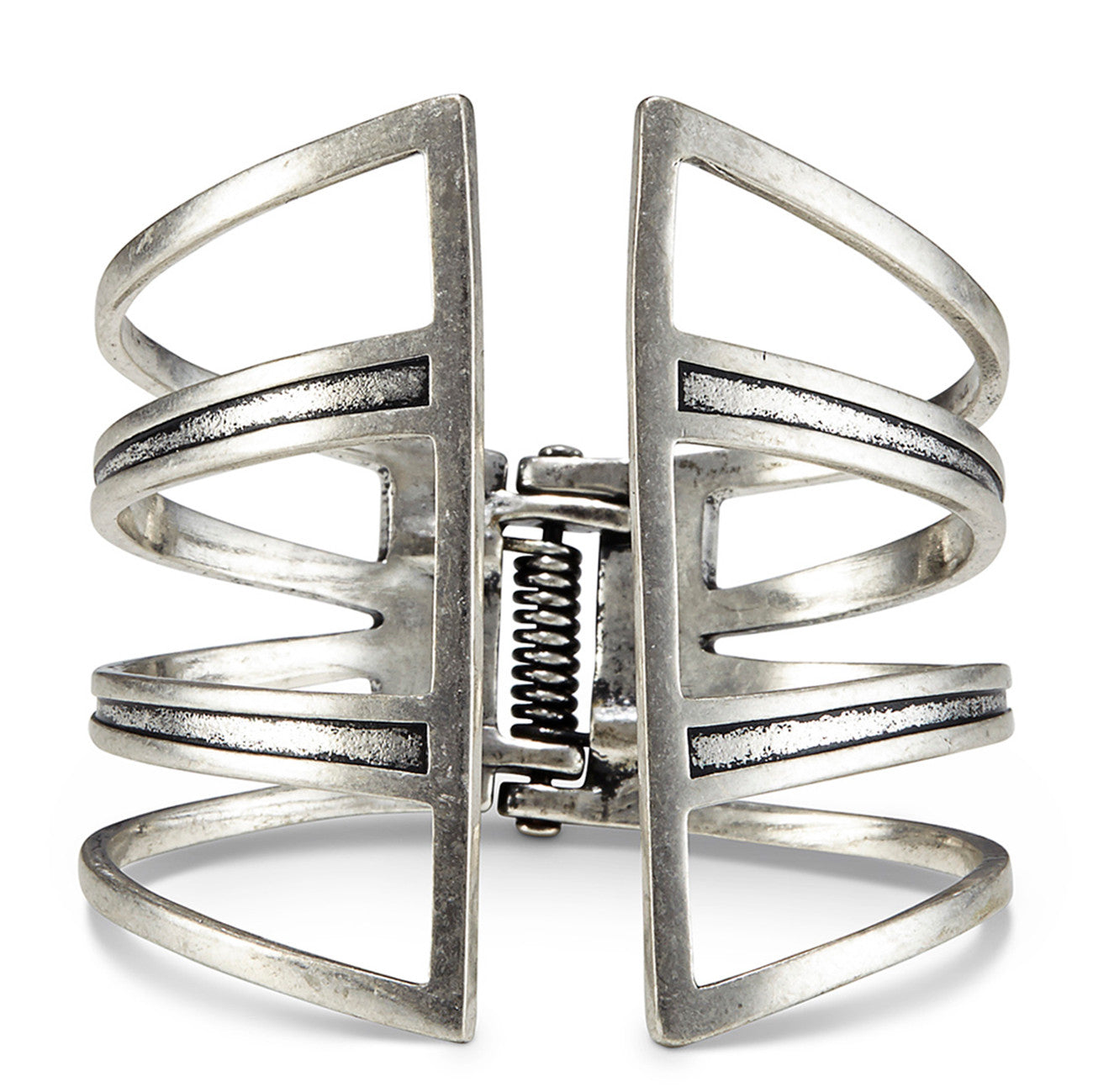 Chamber Cuff by Jenny Bird in Silver