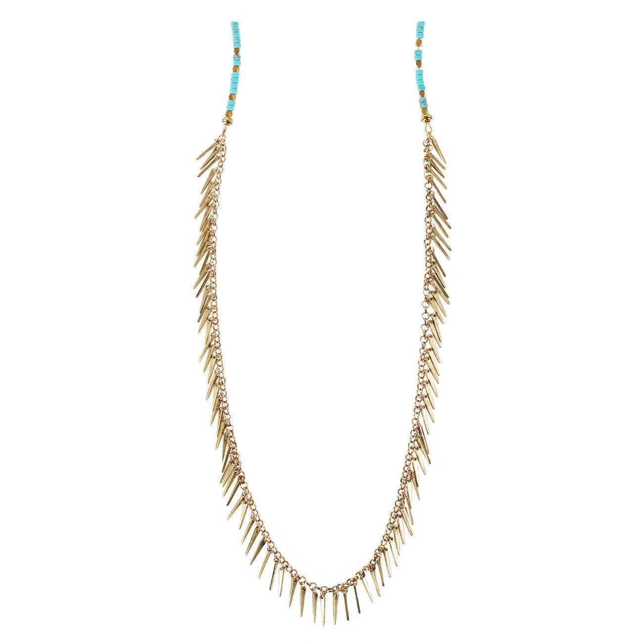 Palm Rope in Gold and Turquoise by Jenny Bird