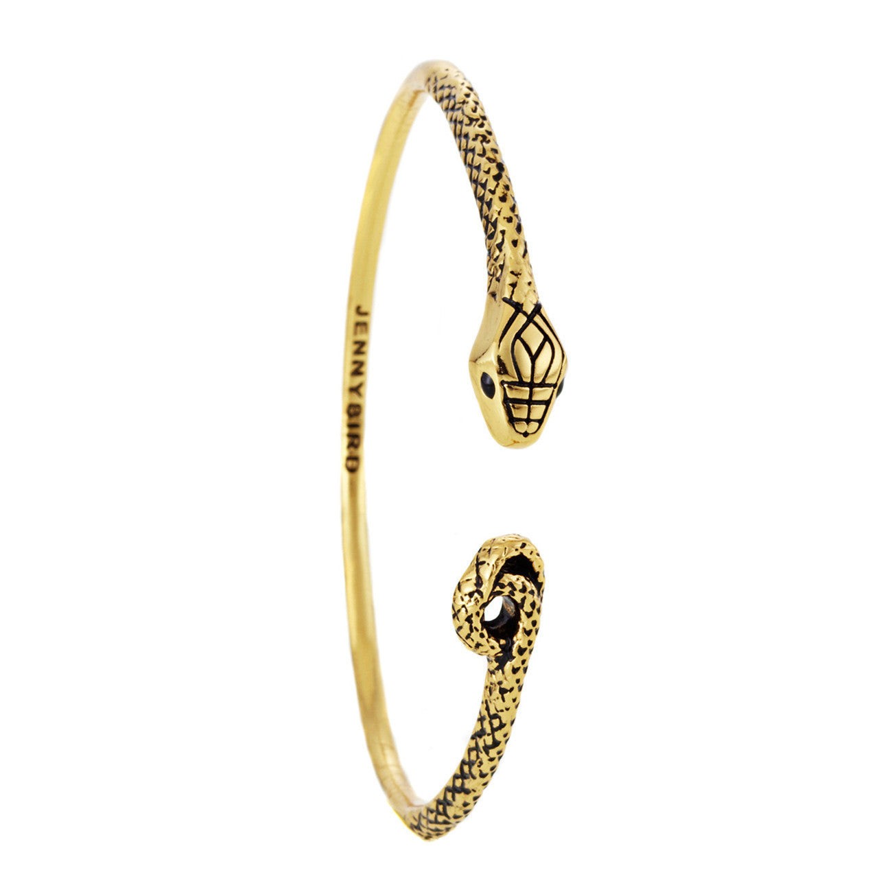 Kundali Queen Serpent Bangle in Gold by Jenny Bird