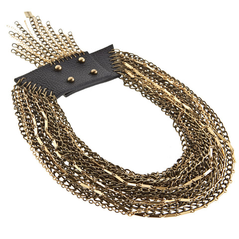 Chain Necklace - Rawley Collar in Gold by Jenny Bird