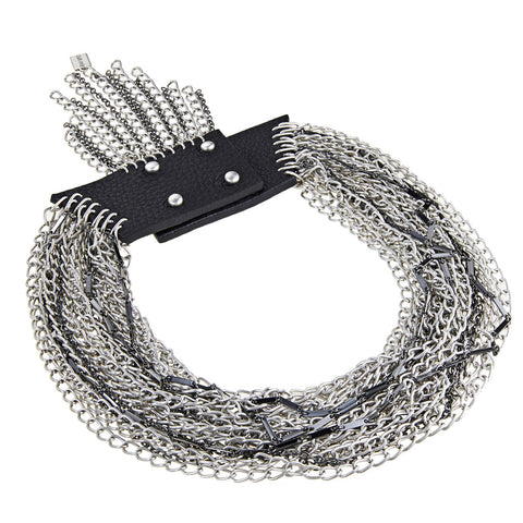 Chain Necklace - Rawley Collar in Silver by Jenny Bird