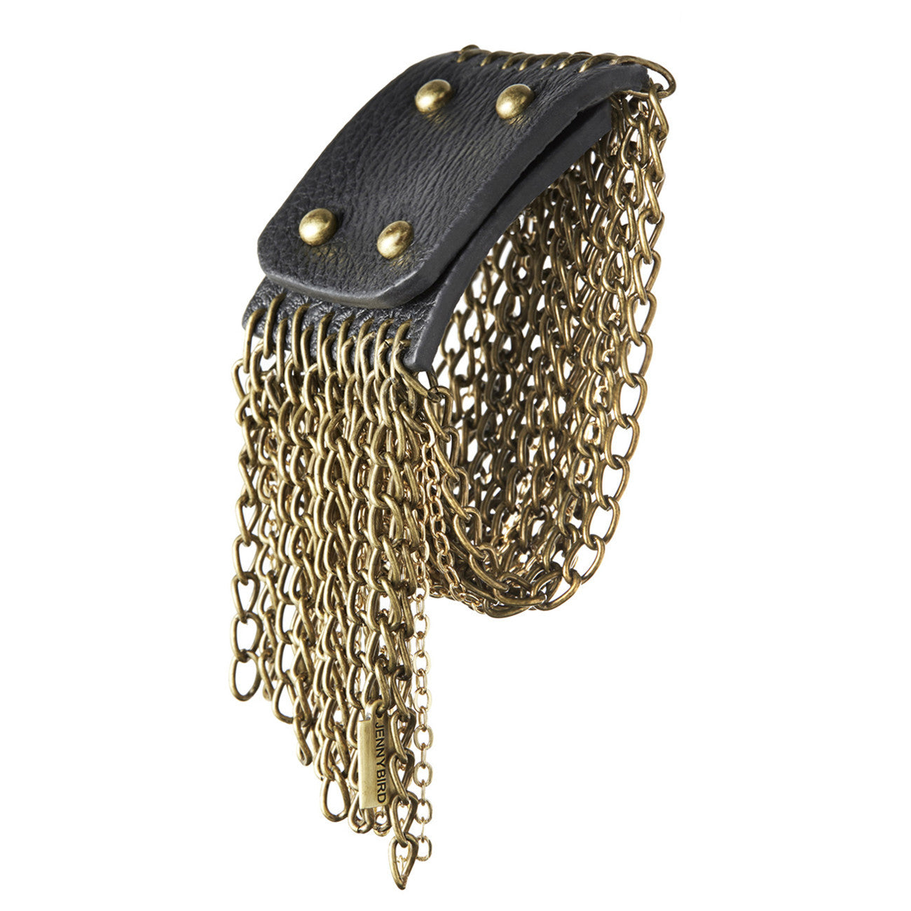 Gold Chain Bracelet with Fringe by Jenny Bird