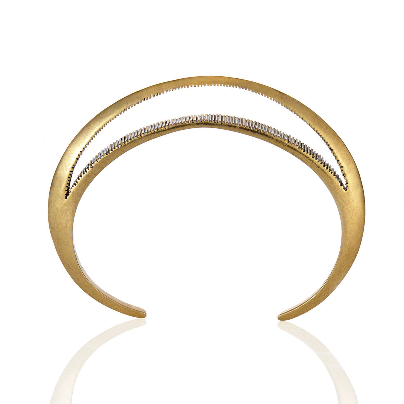 Moon Bangle in Gold - Crescent Moon Cuff by Jenny Bird