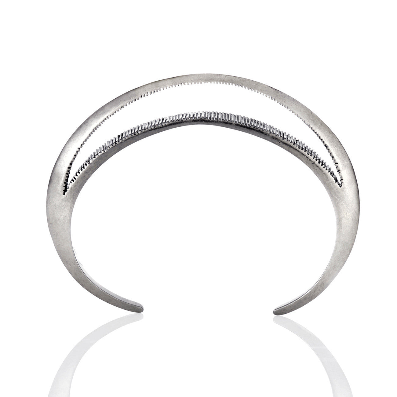 Moon Bangle in Silver - Crescent Moon Cuff by Jenny Bird