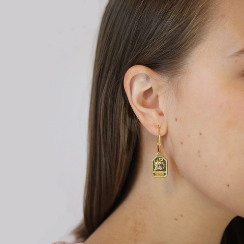 Horoscope Zodiac Hoops by Jenny Bird in Gold