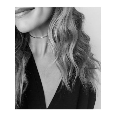 Jenny Bird YaYa Choker in High Polish Silver